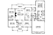 Country Style House Plan - 3 Beds 2.5 Baths 1882 Sq/Ft Plan #929-11 Floor Plan - Main Floor Plan