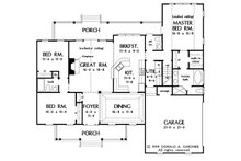Country Floor Plan - Main Floor Plan Plan #929-11