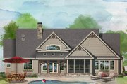 Craftsman Style House Plan - 3 Beds 2.5 Baths 2268 Sq/Ft Plan #929-1057 Exterior - Rear Elevation