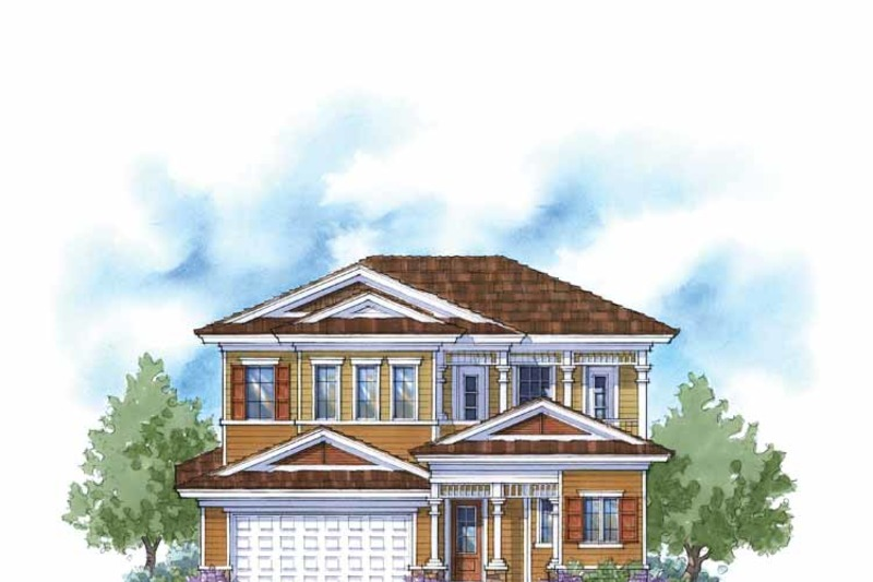Country Exterior - Front Elevation Plan #938-6 - Houseplans.com