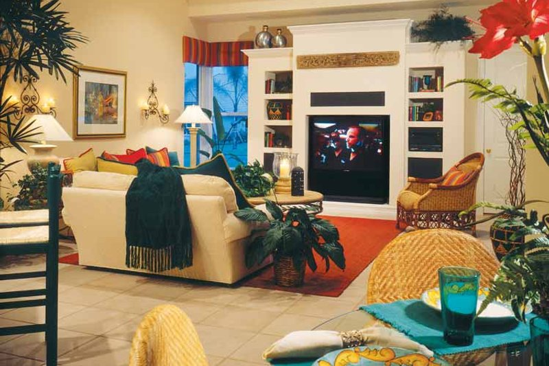 Mediterranean Interior - Family Room Plan #930-50 - Houseplans.com