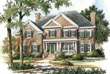 House Plan Design - Colonial Exterior - Front Elevation Plan #429-277