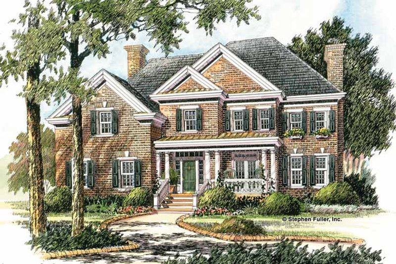Home Plan Design - Colonial Exterior - Front Elevation Plan #429-277