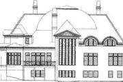 European Style House Plan - 4 Beds 5.5 Baths 5452 Sq/Ft Plan #119-173 Exterior - Rear Elevation