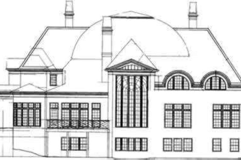 European Exterior - Rear Elevation Plan #119-173 - Houseplans.com