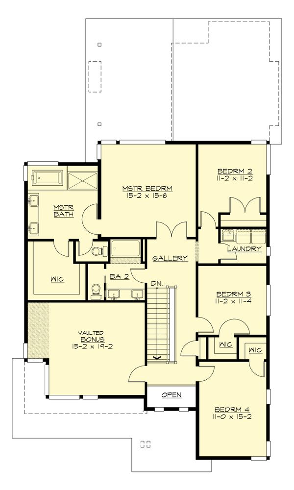 Contemporary Floor Plan - Upper Floor Plan Plan #132-227