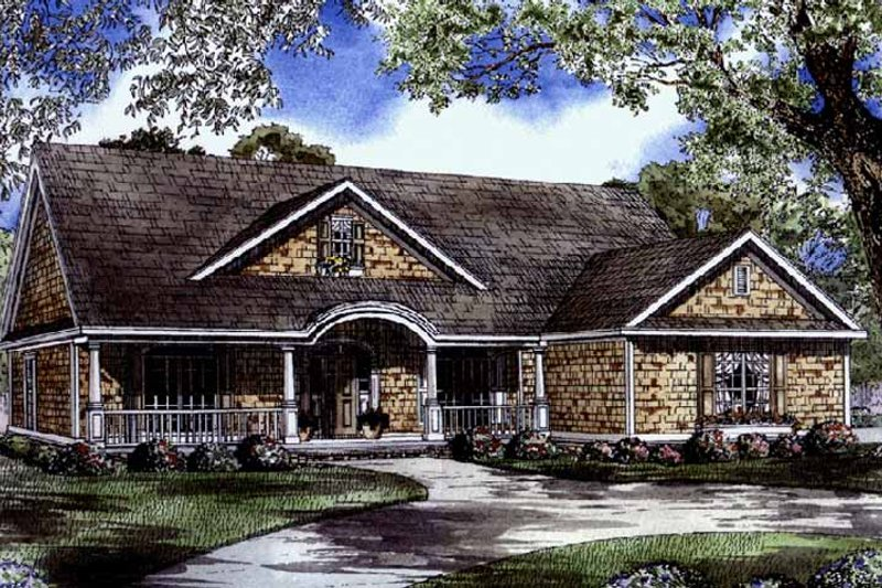 Country Exterior - Front Elevation Plan #17-2795