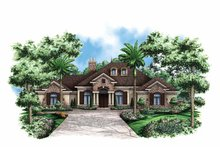 Country Exterior - Front Elevation Plan #1017-120