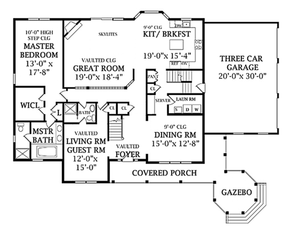 Traditional Floor Plan - Main Floor Plan Plan #314-277