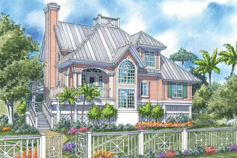 Traditional Exterior - Front Elevation Plan #930-156 - Houseplans.com