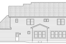 Colonial Exterior - Rear Elevation Plan #1010-166