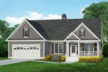 Country Exterior - Front Elevation Plan #929-554
