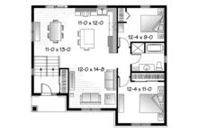 Craftsman Floor Plan - Main Floor Plan Plan #23-2577