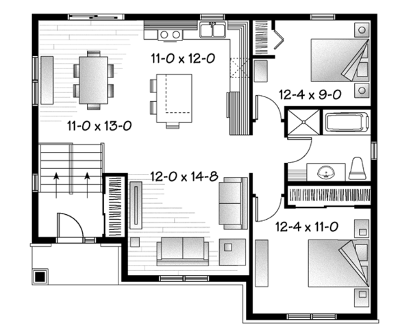 Craftsman Floor Plan - Main Floor Plan Plan #23-2577
