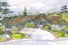 Ranch Exterior - Front Elevation Plan #124-536