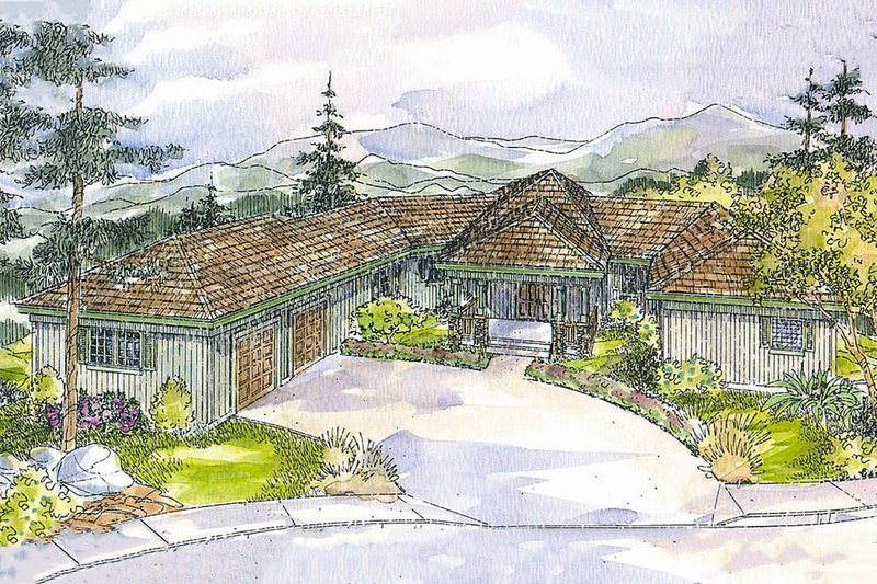 Home Plan - Ranch Exterior - Front Elevation Plan #124-536