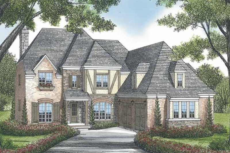 Dream House Plan - European Exterior - Front Elevation Plan #453-569