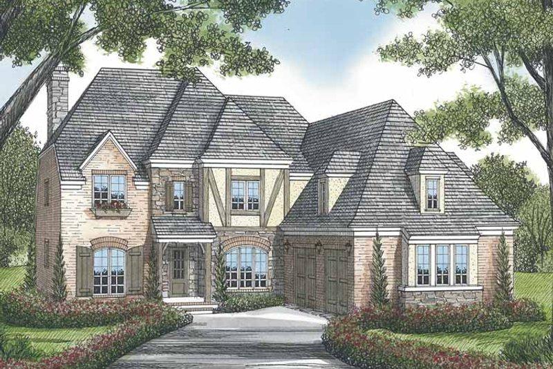 House Plan Design - European Exterior - Front Elevation Plan #453-569