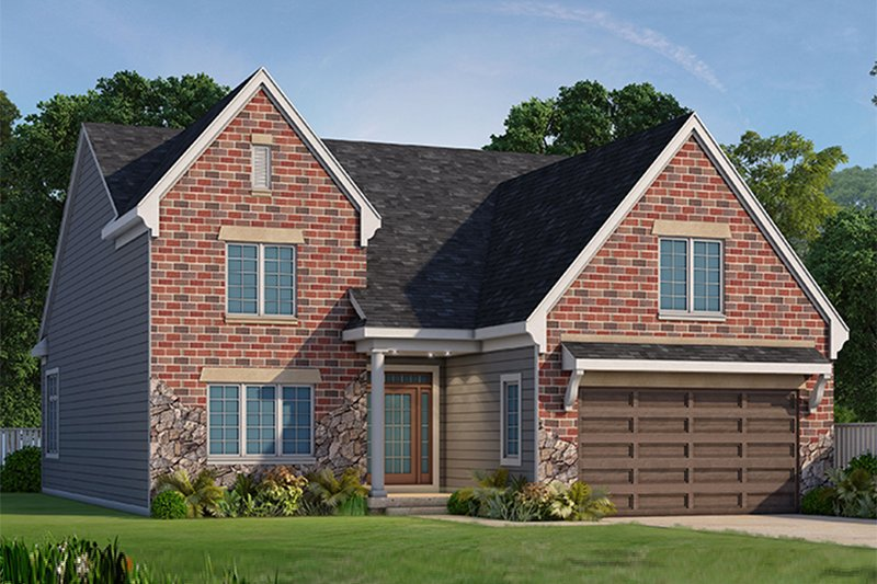 Dream House Plan - Country Exterior - Front Elevation Plan #20-2253