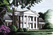 Southern Style House Plan - 4 Beds 4 Baths 4293 Sq/Ft Plan #137-120 Exterior - Front Elevation