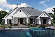Home Plan Design - Farmhouse Exterior - Rear Elevation Plan #120-259