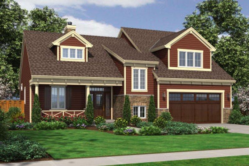 Home Plan - Bungalow Exterior - Front Elevation Plan #46-464