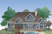 Craftsman Style House Plan - 3 Beds 2 Baths 1986 Sq/Ft Plan #929-981 Exterior - Rear Elevation