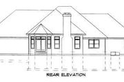 Traditional Style House Plan - 3 Beds 2.5 Baths 2263 Sq/Ft Plan #75-168 Exterior - Rear Elevation