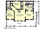 Craftsman Style House Plan - 2 Beds 2 Baths 1066 Sq/Ft Plan #921-16 Floor Plan - Main Floor Plan