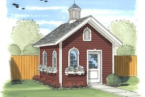 Traditional Exterior - Front Elevation Plan #455-14