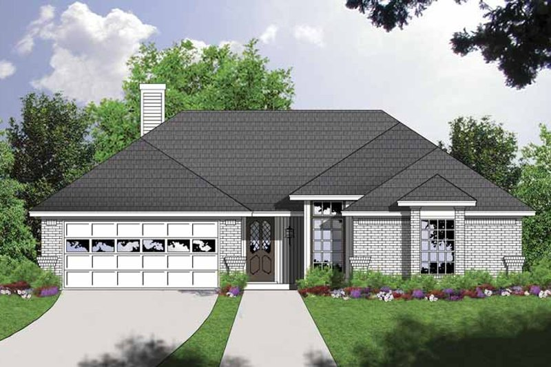 Traditional Exterior - Front Elevation Plan #40-494