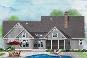 Farmhouse Style House Plan - 4 Beds 4.5 Baths 2822 Sq/Ft Plan #929-1111 Exterior - Rear Elevation