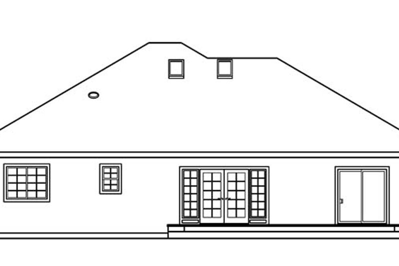 Ranch Exterior - Rear Elevation Plan #124-487 - Houseplans.com