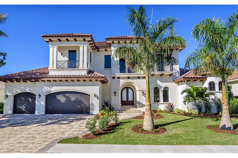 Dream House Plan - Mediterranean Exterior - Front Elevation Plan #1017-169