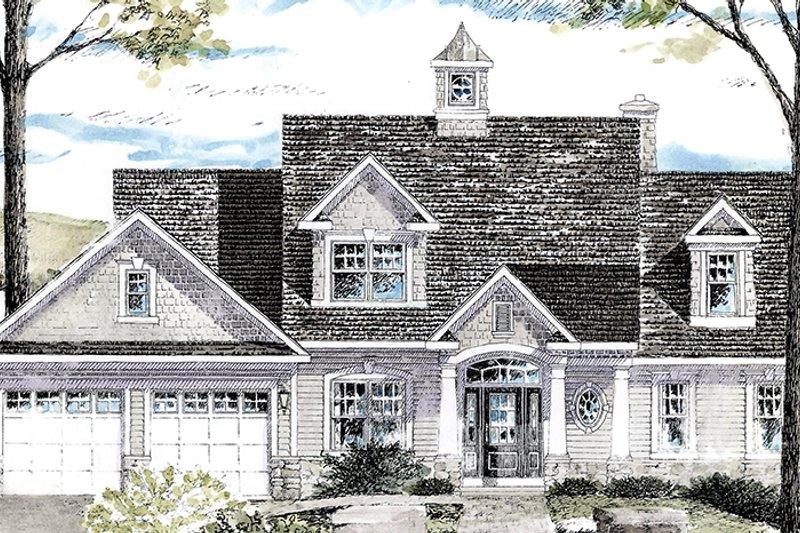 Colonial Exterior - Front Elevation Plan #316-287 - Houseplans.com