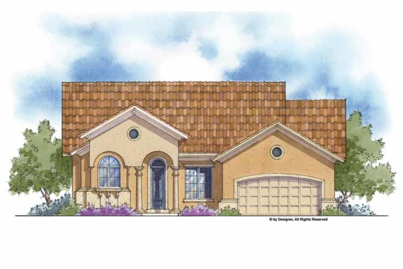 Mediterranean Exterior - Front Elevation Plan #938-60 - Houseplans.com
