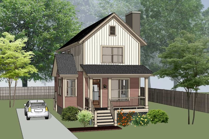 Country Style House Plan - 3 Beds 2 Baths 1414 Sq/Ft Plan #79-203 Exterior - Front Elevation