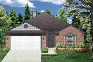Home Plan - Traditional Exterior - Front Elevation Plan #84-669