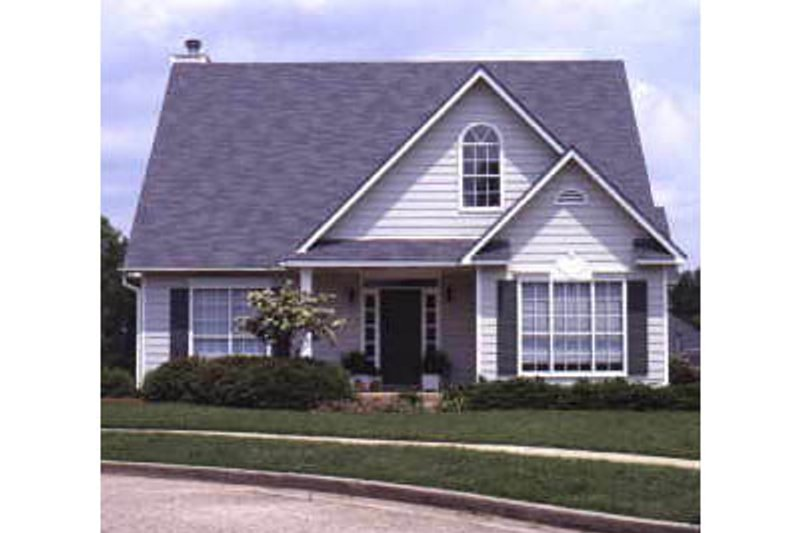Southern Exterior - Front Elevation Plan #37-168