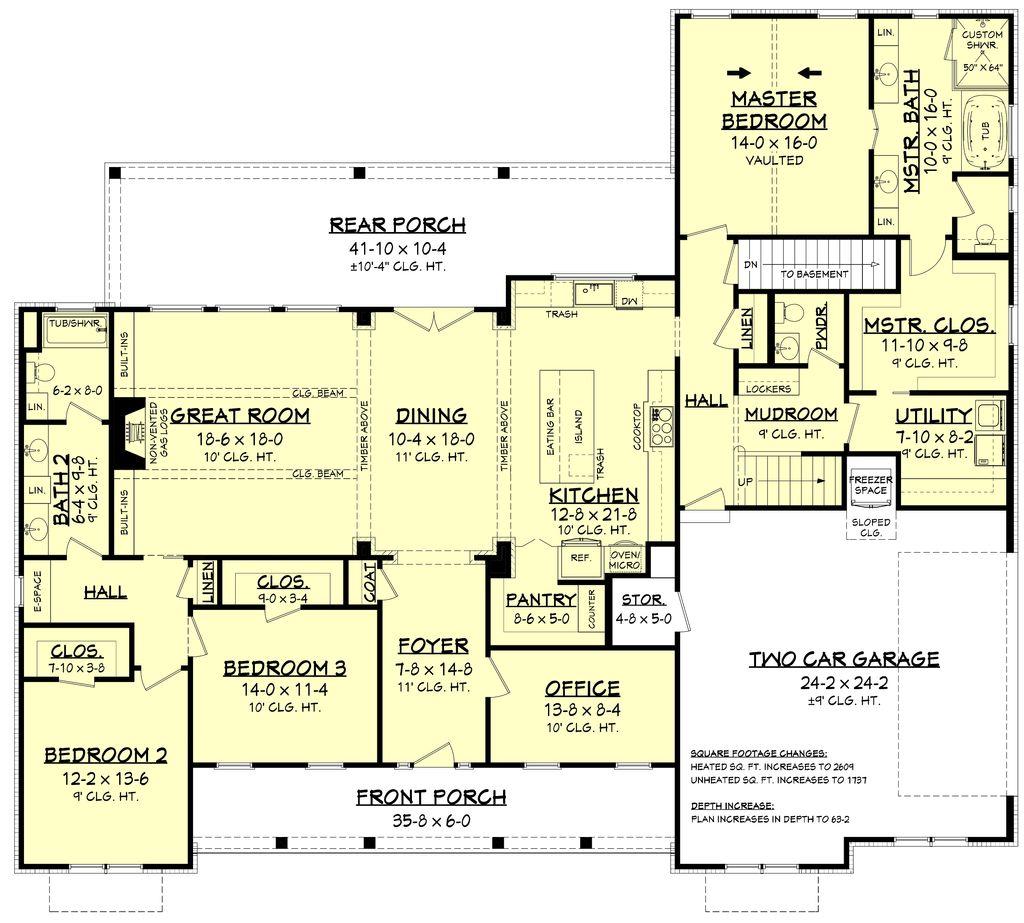 Farmhouse Style House Plan 3 Beds 2 5 Baths 2553 Sq Ft Plan 430 204 Eplans Com