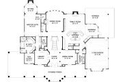 Southern Style House Plan - 5 Beds 5.5 Baths 5083 Sq/Ft Plan #119-198 Floor Plan - Main Floor