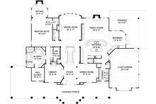 Southern Floor Plan - Main Floor Plan Plan #119-198