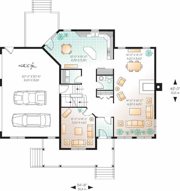 Country Floor Plan - Main Floor Plan Plan #23-2349