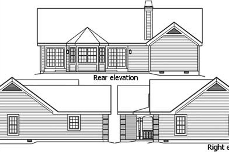 Traditional Exterior - Other Elevation Plan #57-368 - Houseplans.com