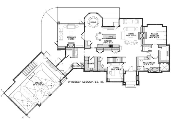 European Floor Plan - Main Floor Plan Plan #928-8