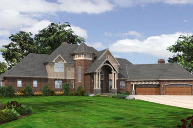 Dream House Plan - European Exterior - Front Elevation Plan #48-258