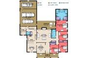 Southern Style House Plan - 4 Beds 3 Baths 2696 Sq/Ft Plan #63-370 Floor Plan - Main Floor Plan