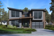 Modern Style House Plan - 3 Beds 4 Baths 3542 Sq/Ft Plan #1066-64 Exterior - Front Elevation