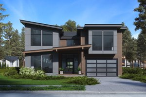 Architectural House Design - Modern Exterior - Front Elevation Plan #1066-64