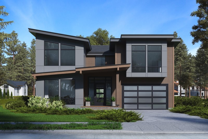House Plan Design - Modern Exterior - Front Elevation Plan #1066-64
